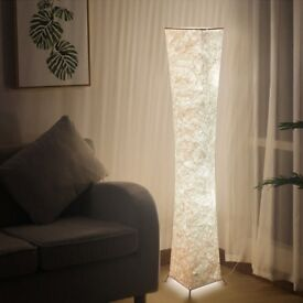 52 inch Tall Fabric Floor Lamp - Supplied with Bulbs