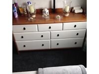 Solid pine drawers with white drawers