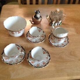 various pieces of alexandria china suitable for home or car boot