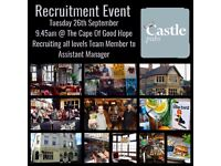Castle Pubs Recruitment Day - Team Members, Supervisors & Assistant Managers