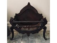 Antique Cast Iron Dog Grate / Fire Basket