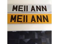 Mell Ann Melanie ann cherished plate on retention cert.