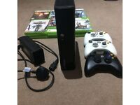 Xbox 360 250gb, 3 controllers, HDMI cable & 19 games
