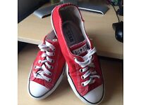 Genuine Converse All Star red trainers UK 7.5 Eur 41