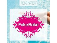 Bronzed Luxuy Fake Bake spray tanning & OPI gel color
