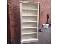 *Beautiful SOLID PINE (cream) bookcase/shelves *