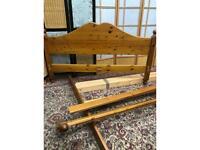 Pine King Size Bed Frame Dismantled