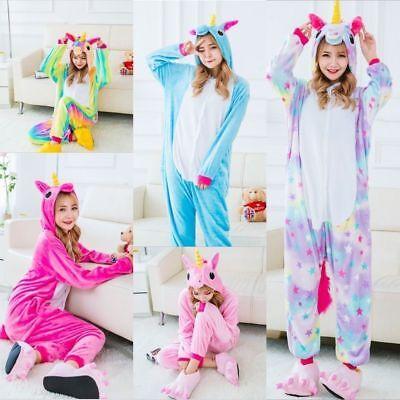 Einhorn Pyjamas Kostüm Jumpsuit Tier Schlafanzug Erwachsene Unisex Onesie10 COS