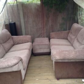 X2 large sofas and matching storage box