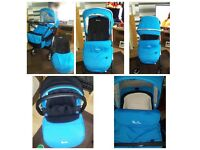 SILVER CROSS WAYFARER PUCHCHAIR, CARSEAT AND CARRYCOT