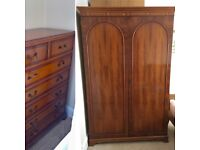 Double Wardrobe & Matching Tall Boy / Chest of Drawers