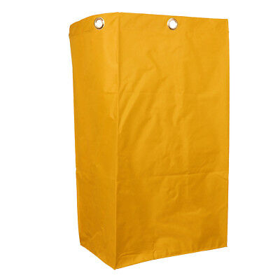 Janitorial Cart Bag 40x28x69cm Housekeeping Cart Replacement Bag Yellow