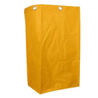 Janitorial Cart Bag 40x28x69cm Housekeeping Cart Replacement Bag Yellow