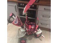 Girls SmartTrike Touch Steer Trike Excellent Condition