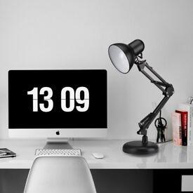 LE Swing Arm LED Desk Lamp, C-Clamp Table Light