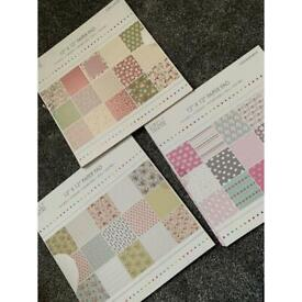 Patterned paper pads x3