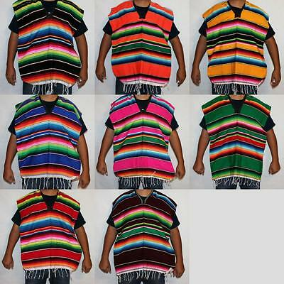 6-12 yrs Mexican Poncho Sarape Halloween Costume Mexican Fiesta Cinco de Mayo