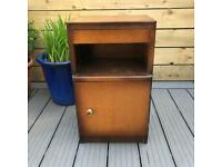 Vintage 1950's Bedside Cabinet / Pot Cupboard with drawer - perfect upcycle