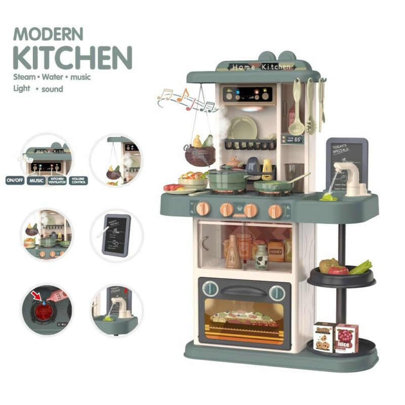Kitchen Play Set Pretend Baker Baby Kids Toy Cooking Playset