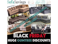 BLACK FRIDAY Huge Discounts New Cheap Corner Sofa Fabric FREE Delivery HUNDREDS OF MODELS AVAILABLE