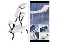 Portable massage table and portable massage chair