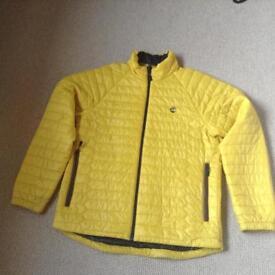 Men`s Timberland Primaloft Quilted / Puffer Jacket Size XL Mustard Yellow