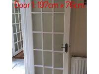 Four internal glass doors