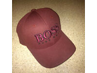 BRAND NEW HUGO BOSS BASEBALL CAP - DARK RED FABRIC BLEND - £49 RRP