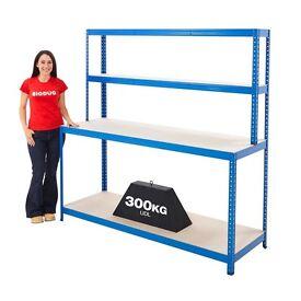 4 Level Workstation Rear = Rear Shelves - 100kg, Front Levels - 300kg