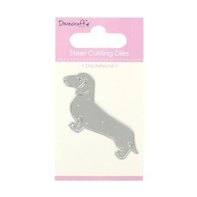 Trimcraft Dovecraft Mini Metal Paper Card Craft Die Set - Sausage Dog