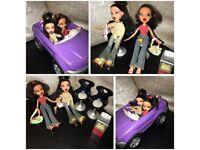 Bratz dolls with car !