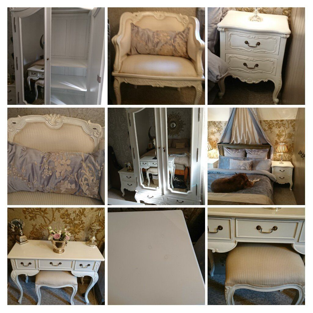 dressing room furniture. Beautifull French Chateau White Bedroom Furniture Suite, Wardrobe, Dressing Table, Cabinets \u0026 Chair Room