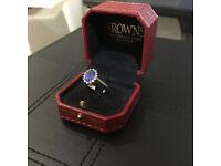 Browns - Tanzanite & Diamond Cluster Ring + customized 18ct white gold & Diamonds ring