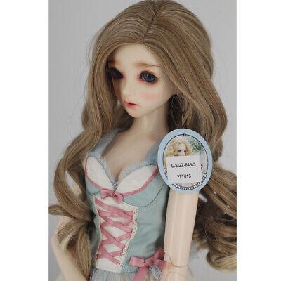 Süße 1/3 BJD Puppen Wellenperücke Super Dollfie Perücke Curly Long Hair