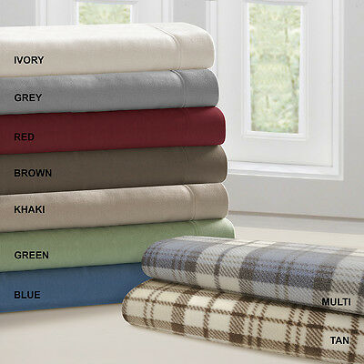 ULTRA SOFT PLUSH COZY WARM FLEECE FLANNEL ALT. SHEET SET FITTED FLAT & CASES