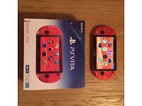 Sony PS Vita Console Metallic Red Japanese Import. Brand New. Boxed. Rare. Unique.