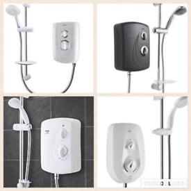 Range of electric showers supplied & fitted from £139