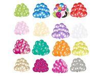 "Helium Pearlised Latex Balloons 10"" Wedding Birthday Party Christening, 25/50/100 Pcs:"