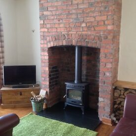 Hetas registered stove fitter and chimney sweep.