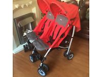Double Chicco pram stroller