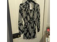 Black and grey flower playsuit