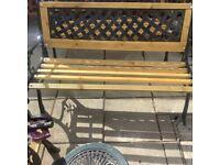 Fully refurbished garden bench cast iron