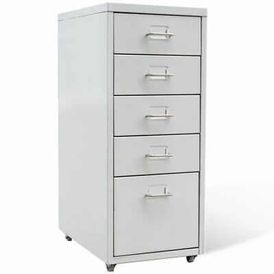 Filing Pedestal Cabinet File Office With 5 Drawers Chest Storage Cabinet Castors