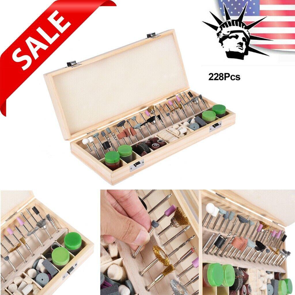 228-Piece Dremel Rotary Tool Accessories Kit Grinding Polish