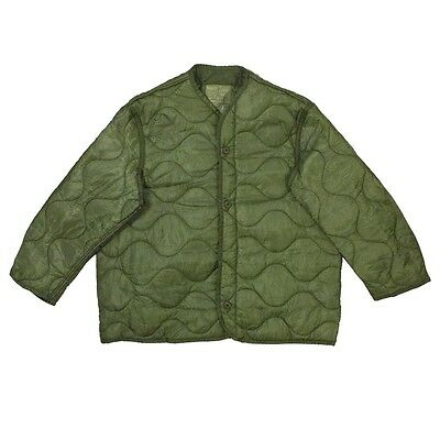M65 Field Jacket Quilted OD Green Coat Liner Large NSN: 8415-00-782-2889
