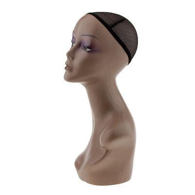 Female Mannequin Head Bust Wigs Styling Hat Jewelry Display Model Manikin