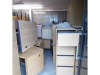 USED HIGH QUALITY OFFICE FURNITURE, DESKS, CUPBOARDS, FILING CABINETS JOBLOT