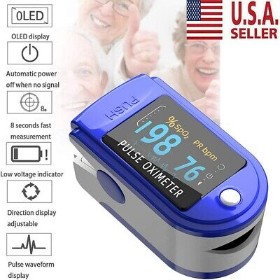 Oximeter Spo2 Fingertip Blood Pressure Oximetry Blood Oxygen Monitor Usa