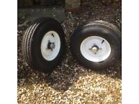 Braked trailer suspension units 750kg with wheels