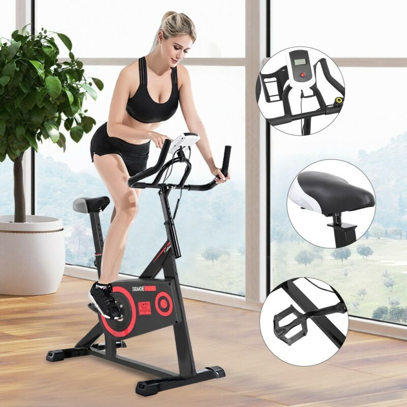 Indoor Pro Stationary Exercise Bike Bicycle Cycling Cardio W